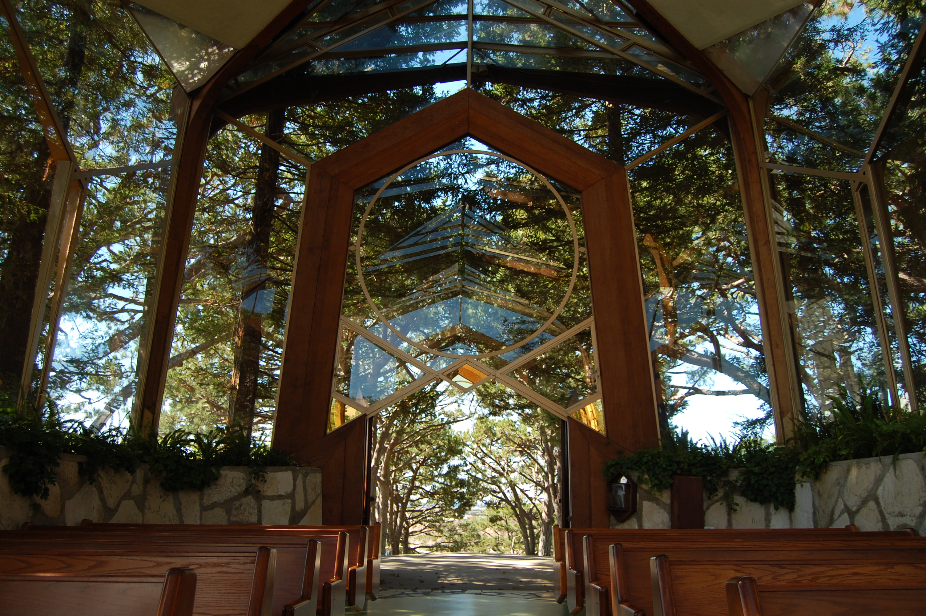 Wayfarers Chapel Lloyd Wright Architect Rancho Palos